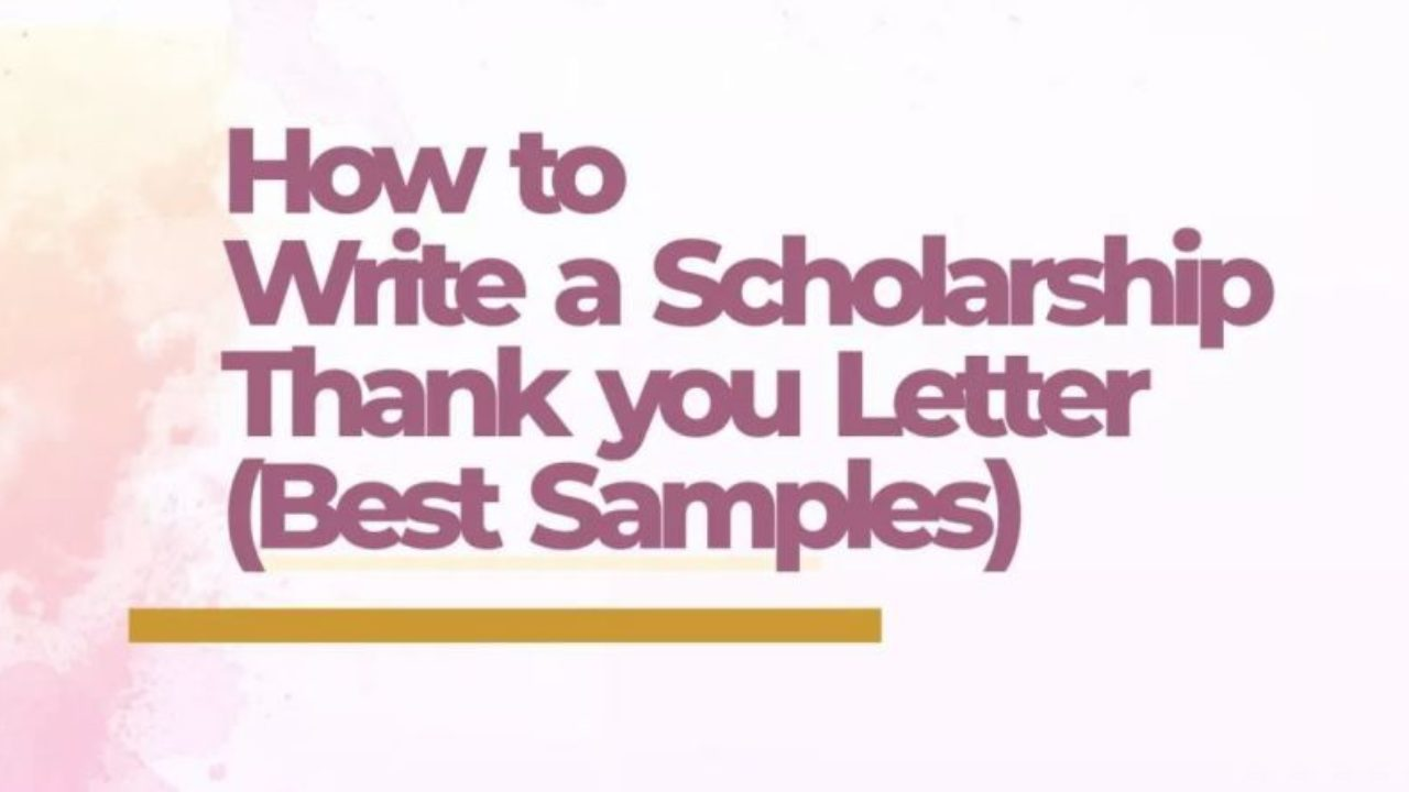 Sample Scholarship Thank You Letter from www.freestudy.com
