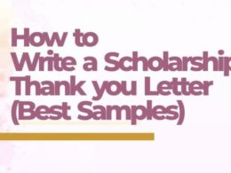 Sample Scholarship Thank You Letters