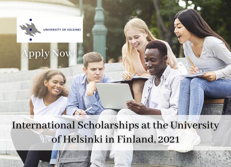 International Scholarships at the University of Helsinki in Finland 2021