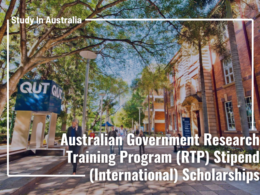 QUT - Australian Government Research Training Program (RTP) Stipend International Scholarships