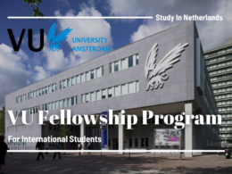 Vrije Universiteit Amsterdam International Fellowship Programs in Netherlands