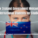 New Zealand Government Welcomes International Students for Studies
