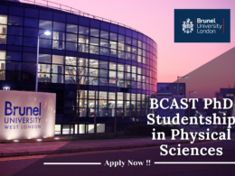 BCAST PhD Studentship in Physical Science at the Brunel University London, UK
