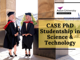 CASE PhD Studentship in Science & Technology at Aston University