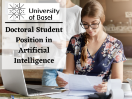 Doctoral Student Position in Artificial Intelligence at the University of Basel