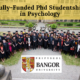 Fully-Funded PhD Studentship in Psychology at Bangor University