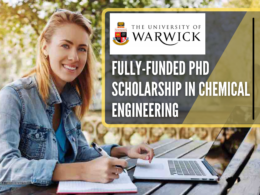 Fully-funded PhD Scholarship in Chemical Engineering at the University of Warwick