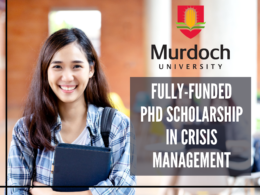 Fully-funded PhD Scholarship in Crisis Management