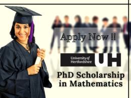Fully-funded PhD Scholarship in Mathematics at the University of Hertfordshire, UK