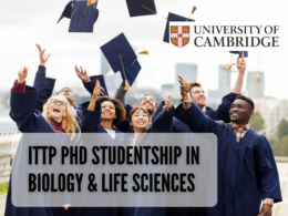 ITTP PhD Studentship in Biology & Life Sciences at University of Cambridge