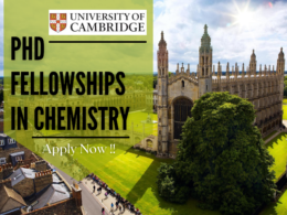 PhD Fellowships in Chemistry at the University of Cambridge