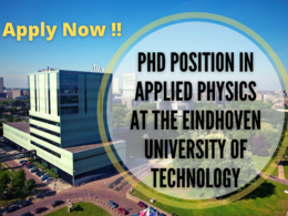 PhD Position in Applied Physics at Eindhoven University of Technology