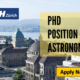 PhD Position in Astronomy at ETH Zurich