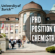 PhD Position in Chemistry at University of Zurich
