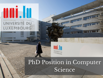 PhD Position in Computer Science at the University of Luxembourg
