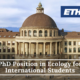 ETH Zurich PhD Position in Ecology for International Students