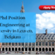 PhD Position in Engineering at University in Leuven, Belgium