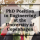 PhD Position in Engineering at the University of Copenhagen