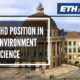 PhD Position in Environment Science at ETH Zurich University