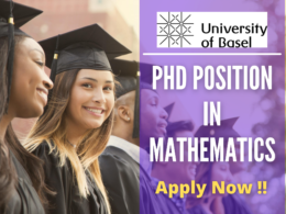 PhD Position in Mathematics at the University of Basel