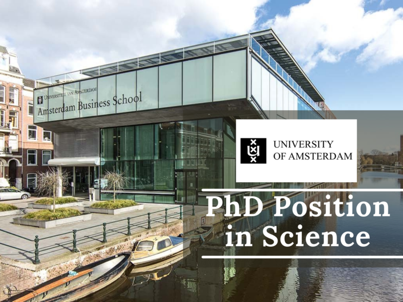 PhD Position in Science at the University of Amsterdam, Netherlands