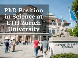 PhD Position in Science at ETH Zurich University