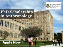 PhD Scholarship in Anthropology