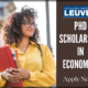 PhD Scholarship in Economics at the University in Leuven
