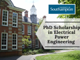 PhD Scholarship in Electrical Engineering at the University of Southampton