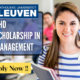 PhD Scholarship in Management at Belgian University KU Leuven