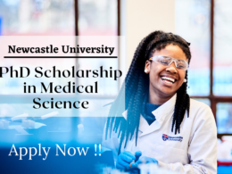 PhD Scholarship in Medical Science at the Newcastle University