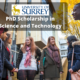 PhD Scholarship in Science and Technology at the University of Surrey