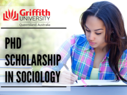 PhD Scholarship in Sociology at the Griffith University