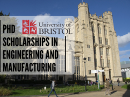 PhD Scholarships in Engineering and Manufacturing at the University of Bristol