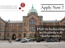 PhD Stipends in Statistics & Mathematics at the University of Copenhagen