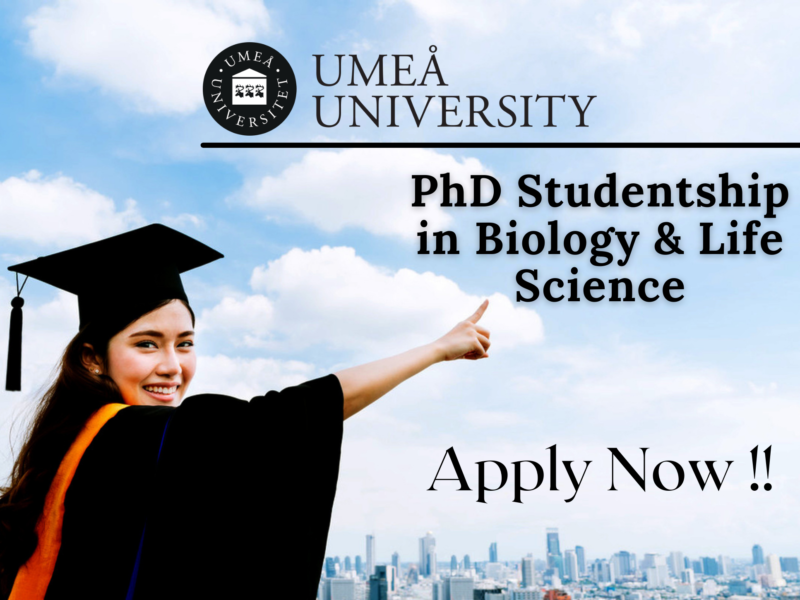 PhD Studentship in Biology & Life Science at Umea University, Sweden