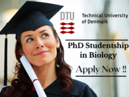 PhD Studentship in Biology at Technical University of Denmark