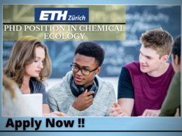 PhD Position in Chemical Ecology at ETH Zurich