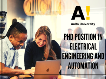 PhD Position in Electrical Engineering and Automation at Aalto University