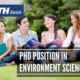 PhD Position in Environment Science at ETH Zurich