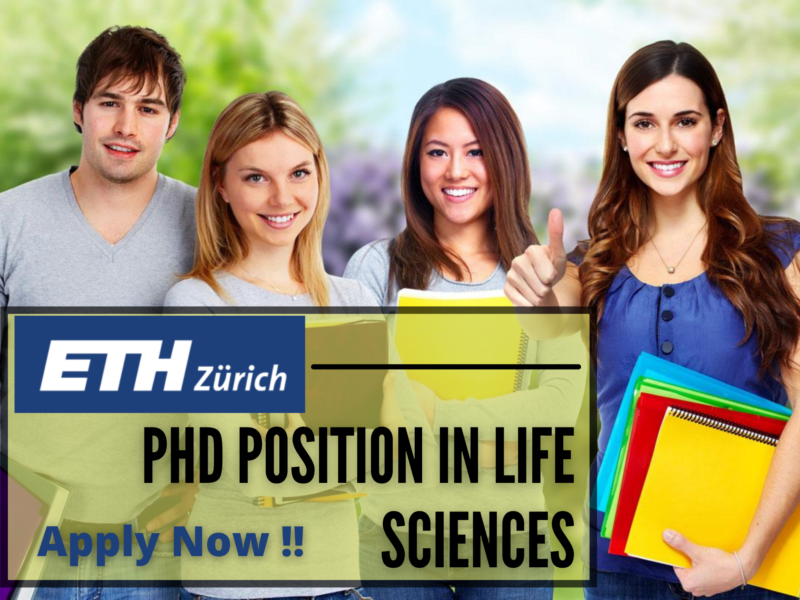 PhD Position in Life Sciences at ETH Zurich