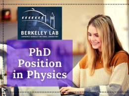 PhD Position in Physics at Lawrence Berkeley National Laboratory, California
